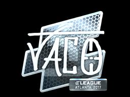 Наклейка | TACO (металлическая) | Атланта 2017