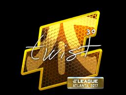 Наклейка | twist (металлическая) | Атланта 2017