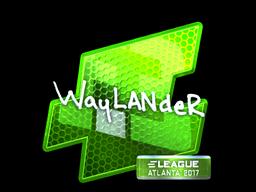 Наклейка | wayLander (металлическая) | Атланта 2017