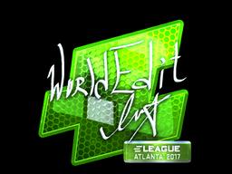 Наклейка | WorldEdit (металлическая) | Атланта 2017