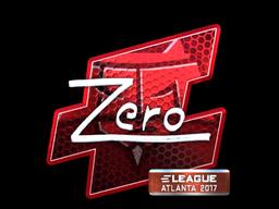 Sticker   Zero (Foil)   Atlanta 2017