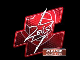 Наклейка | Zeus (металлическая) | Атланта 2017