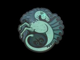 Наклейка   Гиппокампус