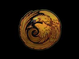 Наклейка   Возрождение феникса (металлическая)
