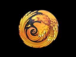 Наклейка   Возрождение феникса