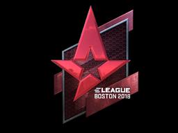 Наклейка | Astralis (металлическая) | Бостон 2018