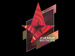 Наклейка | Astralis (голографическая) | Бостон 2018