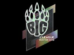 Наклейка | BIG (голографическая) | Бостон 2018