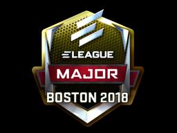 Наклейка | ELEAGUE (металлическая) | Бостон 2018