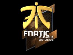 Наклейка | Fnatic (металлическая) | Бостон 2018