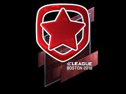 Наклейка | Gambit Esports (металлическая) | Бостон 2018