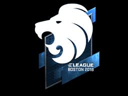 Наклейка | North (металлическая) | Бостон 2018