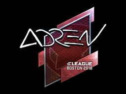 Наклейка | AdreN (металлическая) | Бостон 2018