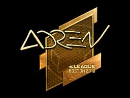 Наклейка | AdreN (золотая) | Бостон 2018