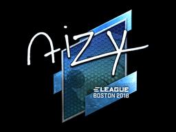 Наклейка | aizy (металлическая) | Бостон 2018