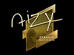 Наклейка | aizy (золотая) | Бостон 2018