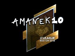 Наклейка | AmaNEk (металлическая) | Бостон 2018