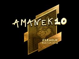 Наклейка | AmaNEk (золотая) | Бостон 2018