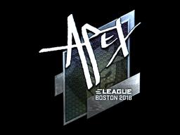 Наклейка | apEX (металлическая) | Бостон 2018