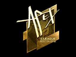 Наклейка | apEX (золотая) | Бостон 2018