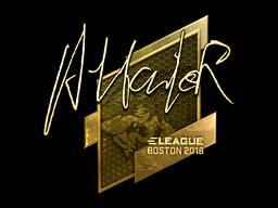 Sticker   Attacker (Gold)   Boston 2018
