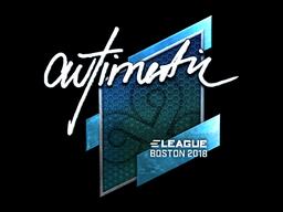 Наклейка | autimatic (металлическая) | Бостон 2018