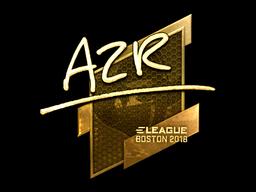 Наклейка | AZR (золотая) | Бостон 2018