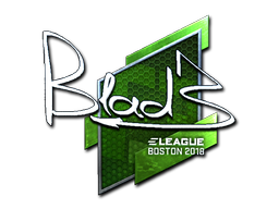 Наклейка | B1ad3 (металлическая) | Бостон 2018