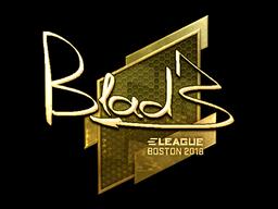Наклейка | B1ad3 (золотая) | Бостон 2018