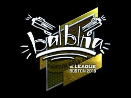 Наклейка | balblna (металлическая) | Бостон 2018