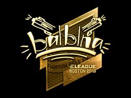 Наклейка | balblna (золотая) | Бостон 2018