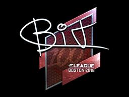 Наклейка | BIT (металлическая) | Бостон 2018
