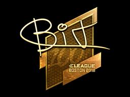 Наклейка | BIT (золотая) | Бостон 2018