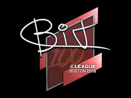 Наклейка | BIT | Бостон 2018