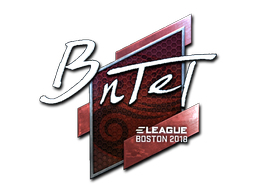 Наклейка | BnTeT (металлическая) | Бостон 2018