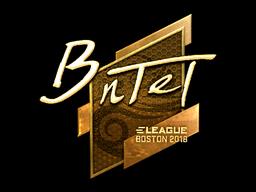 Наклейка | BnTeT (золотая) | Бостон 2018