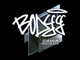 Наклейка | bodyy (металлическая) | Бостон 2018