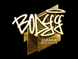 Наклейка | bodyy (золотая) | Бостон 2018