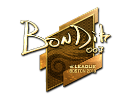Наклейка | bondik (золотая) | Бостон 2018