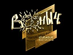 Наклейка | Boombl4 (золотая) | Бостон 2018