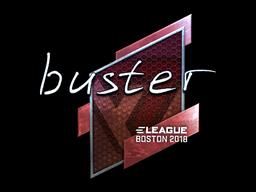 Наклейка | buster (металлическая) | Бостон 2018