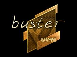 Наклейка | buster (золотая) | Бостон 2018