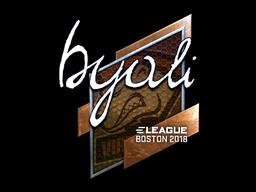 Sticker   byali (Foil)   Boston 2018