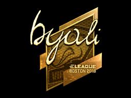 Наклейка | byali (золотая) | Бостон 2018