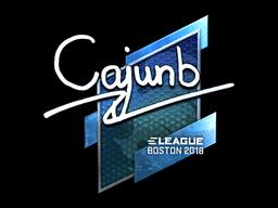 Наклейка | cajunb (металлическая) | Бостон 2018