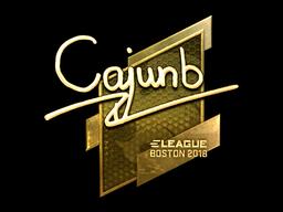 Наклейка | cajunb (золотая) | Бостон 2018