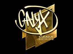 Наклейка | Calyx (золотая) | Бостон 2018