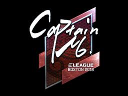 Наклейка | captainMo (металлическая) | Бостон 2018