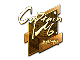 Наклейка | captainMo (золотая) | Бостон 2018