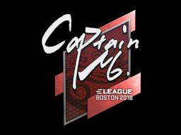 Наклейка | captainMo | Бостон 2018